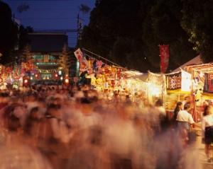 筥崎宮参道に並ぶ露店(提供:福岡市)